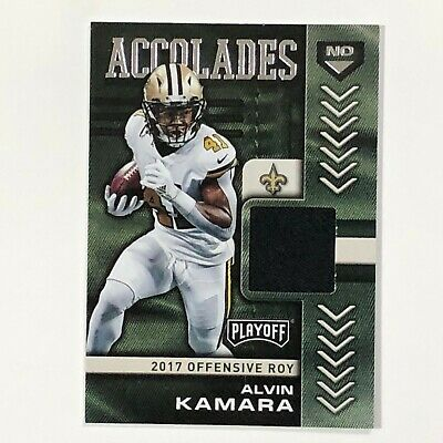 ALVIN KAMARA New Orleans Saints 2019 Playoff #3 Accolades Relic