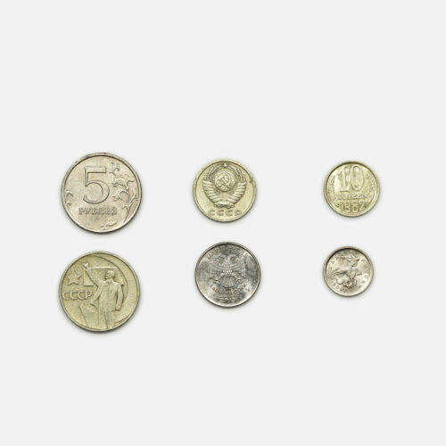 Set of 6 different Russia/USSR coins circ.-Au