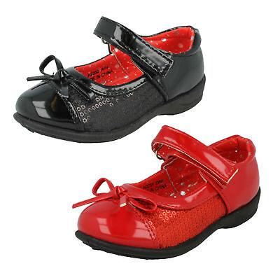 huhe IN Schwarz & Rotes Steg Riemen mit Pailletten Stil H2255 (Roter Pailletten Mädchen Schuhe)