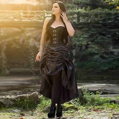VINTAGE GOTH Corsagenkleid Schwarz mit Bolero GothicKleid Corset Dress STEAMPUNK (Schwarze Steampunk Kleid)