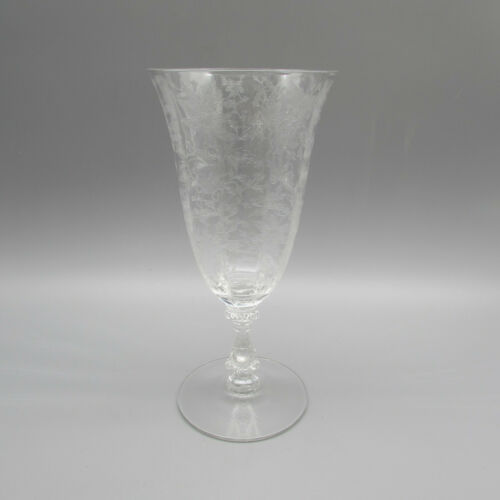 Cambridge Crystal Wildflower 3121 10oz Footed Tumblers - Set of Six