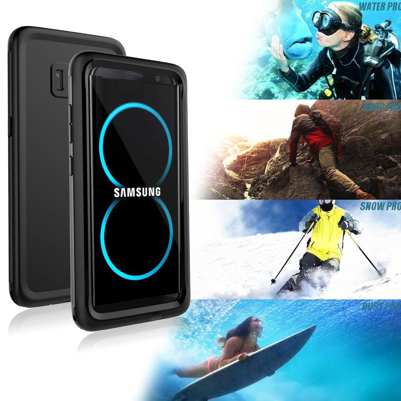 Galaxy S8 S8 Plus Case Genuine REAL IP68 Dust Shock Waterpro