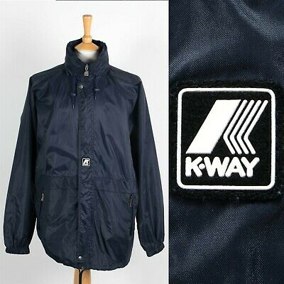 MENS K-WAY WATERPROOF CAGOULE RAIN JACKET KAGOUL SAILING FESTIVALS WALKING XL
