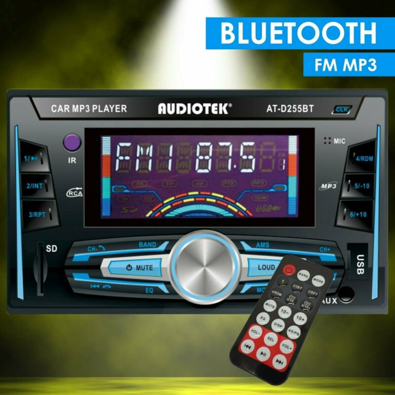 2-DIN Digital Media Receiver Car Stereo with Bluetooth, Aux, USB and with Remote