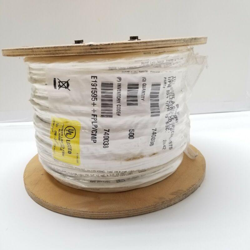 500 Ft Paige Low Voltage Fire Alarm Wire Plenum 2 #16 + 2 #19 FPLP/CMP White