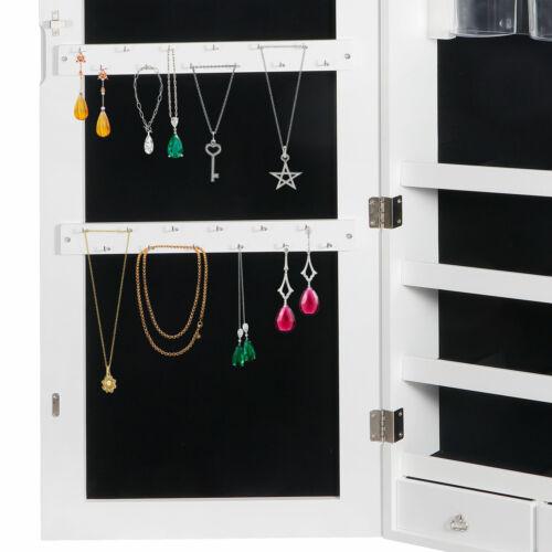 Jewelry Cabinet Wall Door Mounted Jewelry Organizer 2 Drawers Jewelry Storage Jewelry & Watches