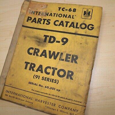 Ih International Td-9 Series 91 Tractor Dozer Crawler Parts Manual Book Catalog