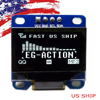 "US 0.96"" I2C IIC Serial 128X64 LED OLED LCD  Display Module for Arduino White"