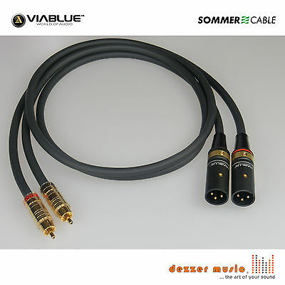 2x 3m Adapterkabel CARBOKAB VIABLUE- Sommer Cable XLR male Cinch..High End