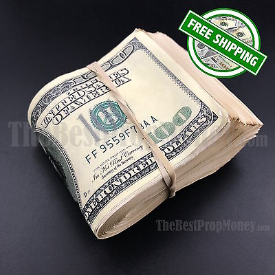 THE BEST PROP MONEY - $10,000 - $10k - Blank Filler Used Fake Prop Movie Money