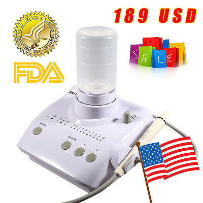 Dental Ultrasonic Piezo Scaler Handpiece Tips Bottles F Ems Woodpecker Portable
