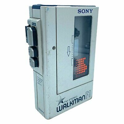 Vintage SONY WALKMAN WM-F1 Vintage FM Stereo Radio /Cassette Player RADIO WORKS