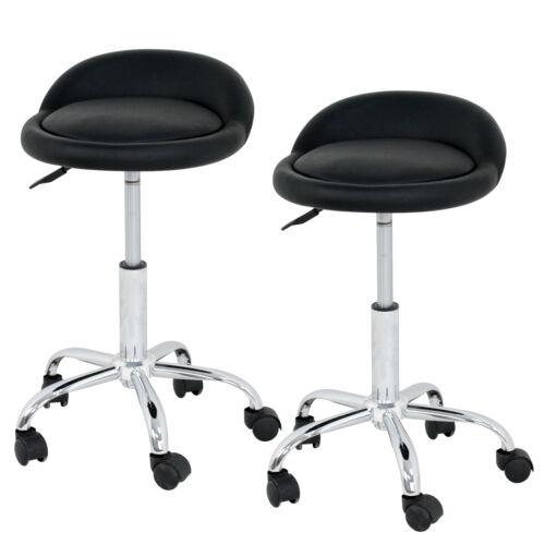6X Spa Salon Stool W/Back Rest Hydraulic Adjustable Height 5 Wheels 360 swivel Health & Beauty
