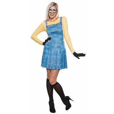 NWT ADULT FEMALE MINION HALLOWEEN COSTUME OUTFIT - SMALL DRESS 2-6 DESPICABLE ME - Minions Halloween Outfit
