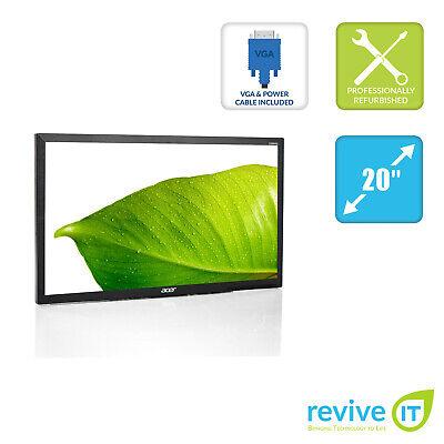 "Acer V206HQL 19.5"" Widescreen 1600x900 LCD Monitor VGA DVI Grade A (Monitor Only"