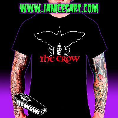 The Crow Halloween (The Crow Men's 100% Cotton Tee - movie - Goth Halloween)