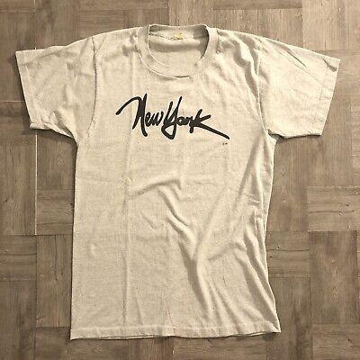 80s Tops, Shirts, T-shirts, Blouse   90s T-shirts vintage 1980's Screen Stars NYC t shirt L gray single stitch New York City 80s $25.49 AT vintagedancer.com