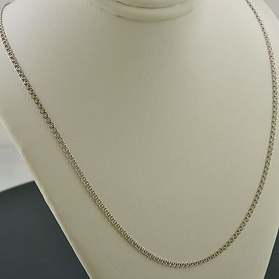 10K WHITE GOLD 22 INCH 2mm INTERLINK (LOVE) CHAIN NECKLACE FREE SHIPPING