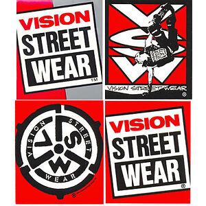 VISION-STREET-WEAR-Original-039-De-los-anos-80-Adhesivo-De-Skateboard-Varios-Logos