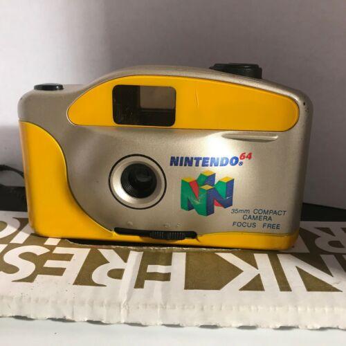 Vintage N64 Nintendo 64 35mm Compact Camera Yellow & Silver Focus Free