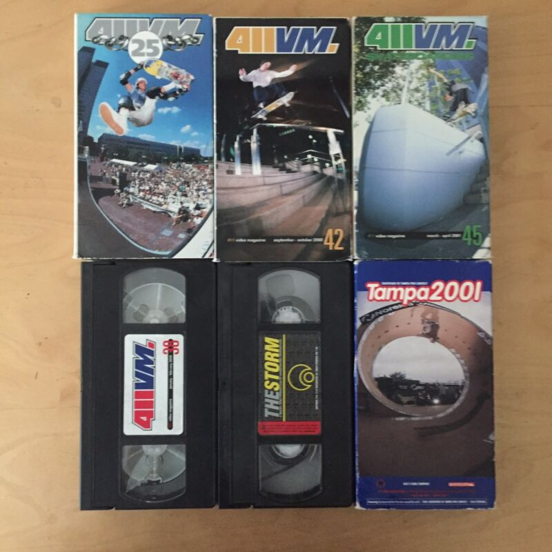 Skateboard VHS Lot - 411vm Osiris The Storm Tampa Pro 2001