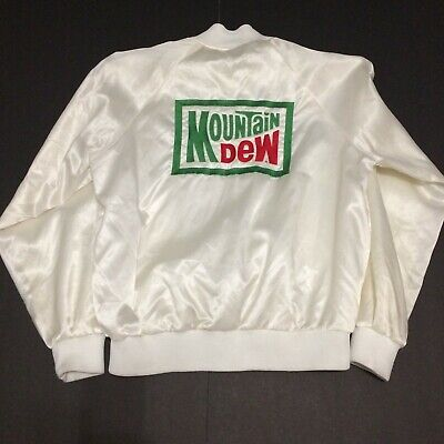 Vintage Mountain Dew Embroidered Satin Jacket Auburn Sportswear Men's Large