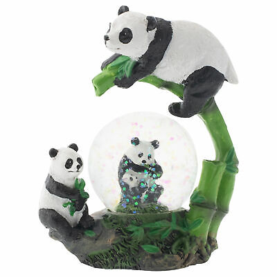 Elanze Designs Panda Bear Family Figurine 45MM Glitter Water