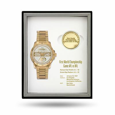 Green Bay Packers Super Bowl Watch & Coin Gift Set Limited 50 sets MSRP: $375
