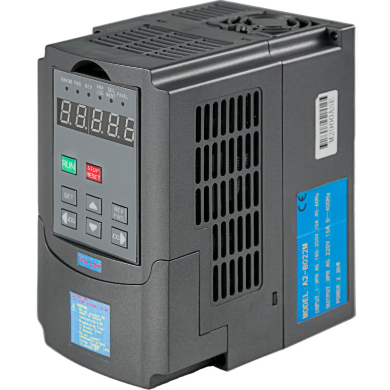 2.2KW 3HP VFD 10A 220V SINGLE PHASE SPEED VARIABLE FREQUENCY DRIVE INVERTER