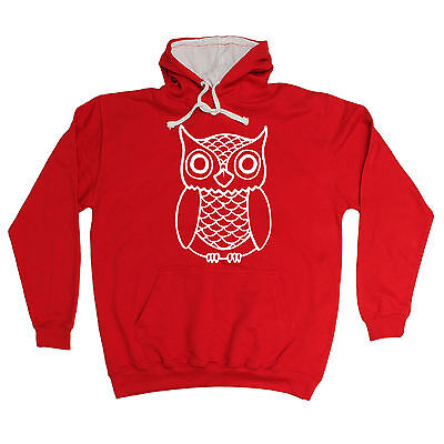 OWL DESIGN HOODIE hoody cute animal bird funny birthday gift present him her