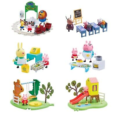 Zoo Pig - Peppa Pig Playsets Zoo Shopping Kitchen Slide Swing Classroom Days Out Toy NEW