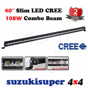 Slim CREE LED Light Bar 40 Inch 108W Combo Spot Flood Beam Work Offroad 4WD