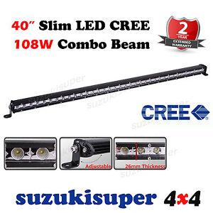 Slim CREE LED Light Bar 40 Inch 108W Combo Spot Flood Beam Work Offroad 4WD