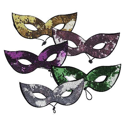 Adults / Kids Halloween Masquerade Carnival Festival Party Sequin Cat Eye Mask ()