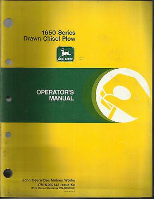 John Deere 1650 Series Drawn Chisel Plow Operators Manual