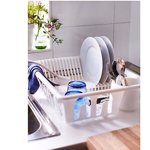 New ikea plastic dish rack drainer sink cutlery drying for Kitchen drying rack ikea