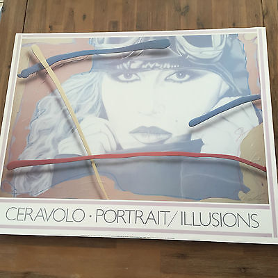 """Vintage Jim Ceravolo 1983 """"The Aviator"""" Lithograph Poster 33"""" x 26"""" - Unframed"""