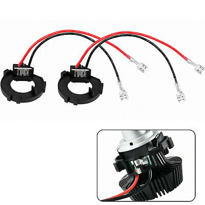 2x H7 LED Headlight Adapter Holder Conversion Kit For VW Golf MK7 MK6 JETTA