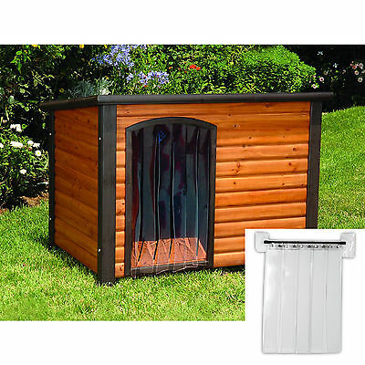 Precision Pet 14.5 by 9.8 Inch Outback Dog House Door Cabin Log Fits Small House