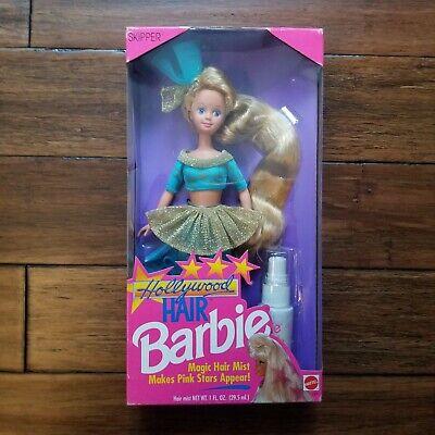 1992 Skipper Hollywood Hair Barbie Doll Mattel in Box Vintage Star Hair Mist