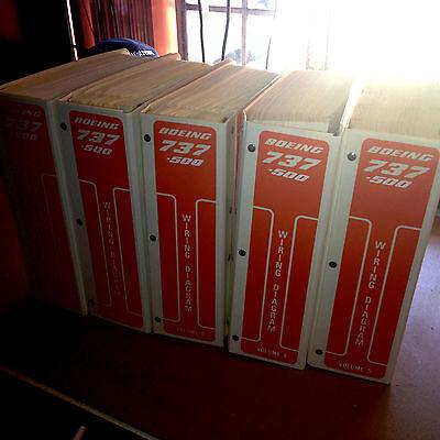 Boeing 737-500 Wiring Diagram Manuals, a 5 Vol. set | Wundr-Shop on