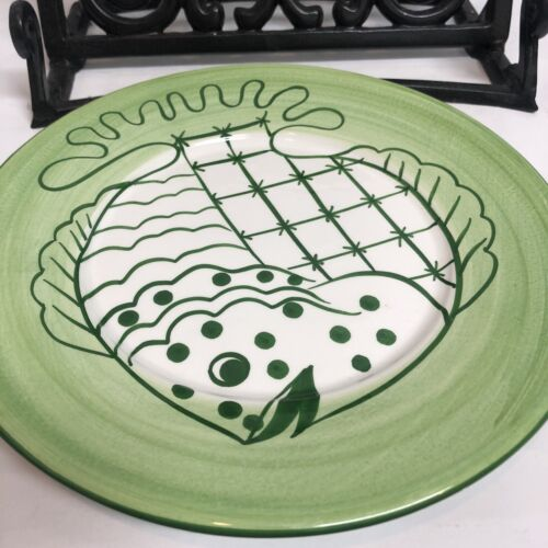 Zanolli Fish Plate Hand Painted Italy Ceramic Whimsical Funny Design Green  - $19.99