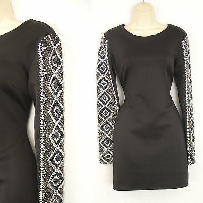 Topshop dress size 10 - black beaded cocktail occasion christmas evening