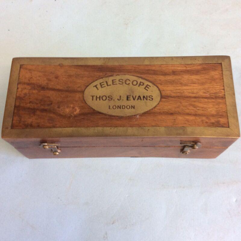 Telescope by Thos. J. Evans London, Rosewood Case