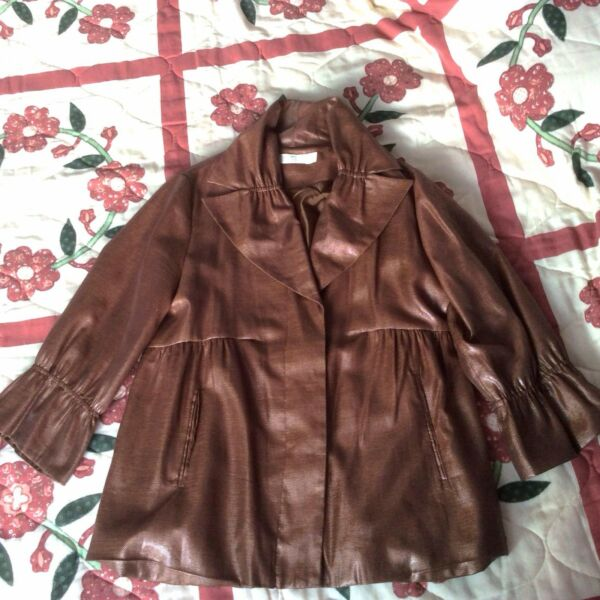 Brand New Brown Sheen Bysi Babydoll Jacket