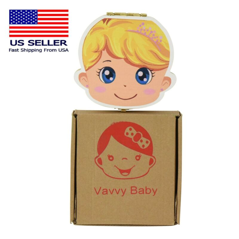 VAVVY BABY Tooth Box for baby milk teeth -Tooth Fairy Box- Baby Girl blonde