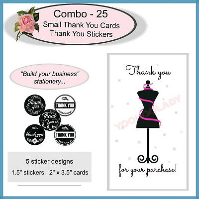 Thank You For Your Purchase Business Cards Stickers Set 25 Sets