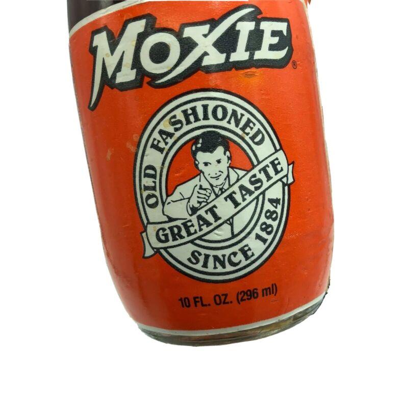 3 x 10-oz Short Bottle Moxie Soda Drink Unopened Vintage Carrier HTF Rare