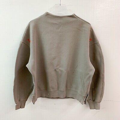 ADER ERROR Pullover Sweatshirt Scuba Mock Neck Zipper Brown Size 3