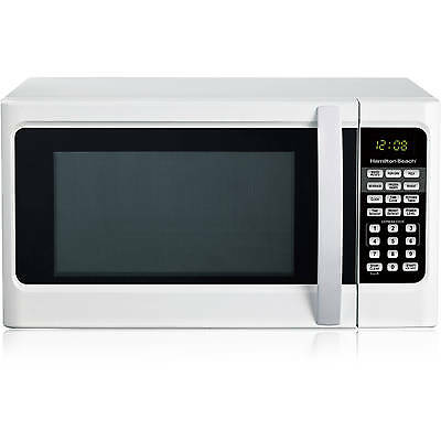 Hamilton Beach 1.1 cu ft Digital White Microwave Oven